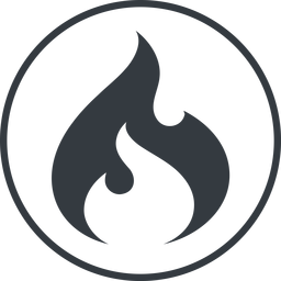 codeigniter thin, line, circle, logo, brand, icon, codeigniter, igniter, code, php, framework, flame, fire free icon 256x256 256x256px