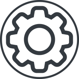 setting-thin thin, line, circle, setting, config, gear, wheel, settings, cog, setting-thin free icon 256x256 256x256px