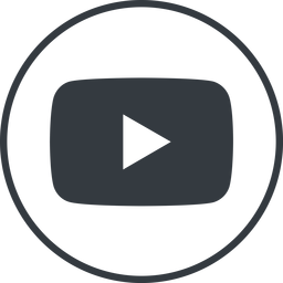 youtube thin, line, circle, logo, brand, social, youtube, video, channel, youtuber free icon 256x256 256x256px