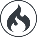 codeigniter thin, line, circle, logo, brand, icon, codeigniter, igniter, code, php, framework, flame, fire free icon 128x128 128x128px