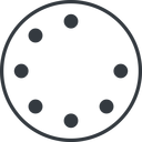 spinner-thin line, up, circle, spinner, spin, wait, load, loading, spinner-thin, loader free icon 128x128 128x128px