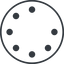 spinner-thin line, up, circle, spinner, spin, wait, load, loading, spinner-thin, loader free icon 64x64 64x64px