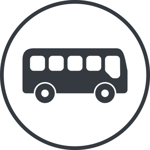 bus-side thin, line, wide, circle, car, vehicle, transport, bus, side, bus-side free icon 512x512 512x512px