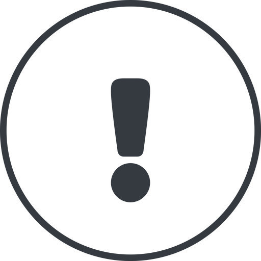 warning-solid thin, line, circle, mark, warning, exclamation, warning-solid, alert free icon 512x512 512x512px