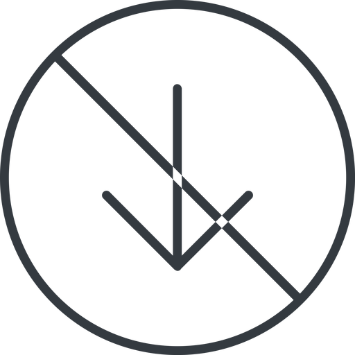 arrow-simple-thin thin, line, down, circle, arrow, direction, prohibited, arrow-simple-thin free icon 512x512 512x512px