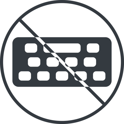 keyboard-solid thin, line, down, circle, prohibited, desktop, keyboard, keypad, typing, keyboard-solid free icon 512x512 512x512px