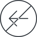 arrow-simple-thin thin, line, left, circle, arrow, direction, prohibited, arrow-simple-thin free icon 128x128 128x128px