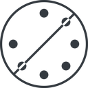 spinner-thin thin, line, left, circle, prohibited, spinner, spin, wait, load, loading, spinner-thin, loader free icon 128x128 128x128px