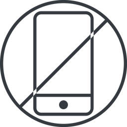 smartphone-thin thin, line, up, circle, horizontal, mirror, prohibited, iphone, phone, mobile, android, gsm, smartphone, cell, smartphone-thin free icon 256x256 256x256px