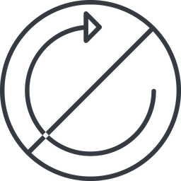 undo-thin thin, line, up, circle, horizontal, mirror, arrow, prohibited, reload, refresh, undo, redo, undo-thin, restore free icon 256x256 256x256px