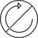 undo-thin thin, line, up, circle, horizontal, mirror, arrow, prohibited, reload, refresh, undo, redo, undo-thin, restore free icon 128x128 128x128px