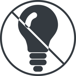 bulb-solid thin, line, up, circle, prohibited, light, bulb, brainstorming, creativity, idea, tip, lamp, bulb-solid free icon 256x256 256x256px