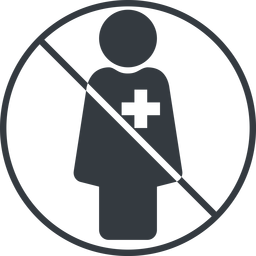 female-nurse-solid thin, line, circle, prohibited, nurse, medical, healthcare, health, female, medic, female-nurse, doctor, hospital, female-nurse-solid free icon 256x256 256x256px