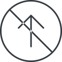 arrow-simple-thin thin, line, up, circle, arrow, direction, prohibited, arrow-simple-thin free icon 128x128 128x128px