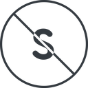 small thin, line, circle, small, size, s, prohibited free icon 128x128 128x128px