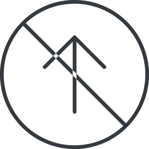arrow-simple-thin thin, line, up, circle, arrow, direction, prohibited, arrow-simple-thin free icon 512x512 512x512px