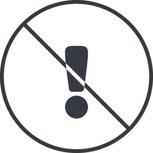 warning-solid thin, line, circle, mark, warning, exclamation, prohibited, warning-solid, alert free icon 512x512 512x512px