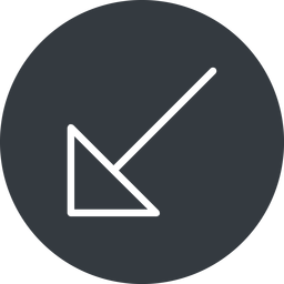 arrow-corner-thin thin, down, solid, circle, arrow, corner, arrow-corner-thin free icon 256x256 256x256px
