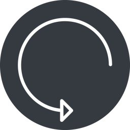 undo-thin thin, down, solid, circle, arrow, reload, refresh, undo, redo, undo-thin, restore free icon 256x256 256x256px