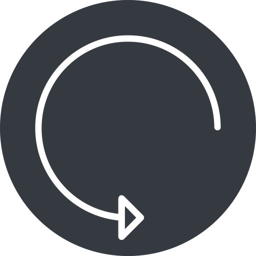 undo-thin thin, down, solid, circle, arrow, reload, refresh, undo, redo, undo-thin, restore free icon 512x512 512x512px