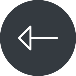 arrow-thin thin, left, solid, circle, arrow, arrow-thin free icon 256x256 256x256px