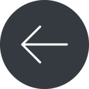arrow-simple-thin thin, left, solid, circle, arrow, direction, arrow-simple-thin free icon 128x128 128x128px