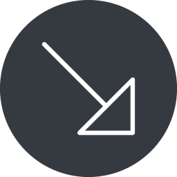 arrow-corner-thin thin, right, solid, circle, arrow, corner, arrow-corner-thin free icon 256x256 256x256px