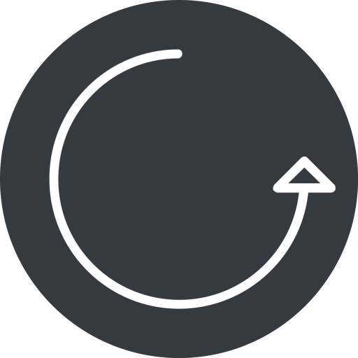 undo-thin thin, right, solid, circle, arrow, reload, refresh, undo, redo, undo-thin, restore free icon 512x512 512x512px