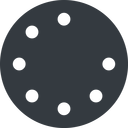 spinner-thin up, solid, circle, spinner, spin, wait, load, loading, spinner-thin, loader free icon 128x128 128x128px