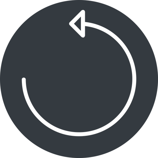 undo-thin thin, up, solid, circle, arrow, reload, refresh, undo, redo, undo-thin, restore free icon 512x512 512x512px