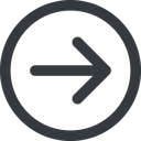 arrow-simple-wide line, right, circle, arrow, direction, arrow-simple-wide free icon 128x128 128x128px