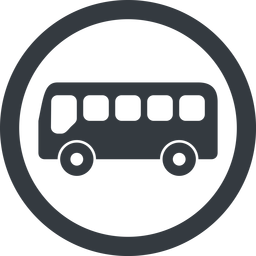 bus-side line, wide, circle, horizontal, mirror, car, vehicle, transport, bus, side, bus-side free icon 256x256 256x256px