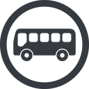 bus-side line, wide, circle, horizontal, mirror, car, vehicle, transport, bus, side, bus-side free icon 128x128 128x128px