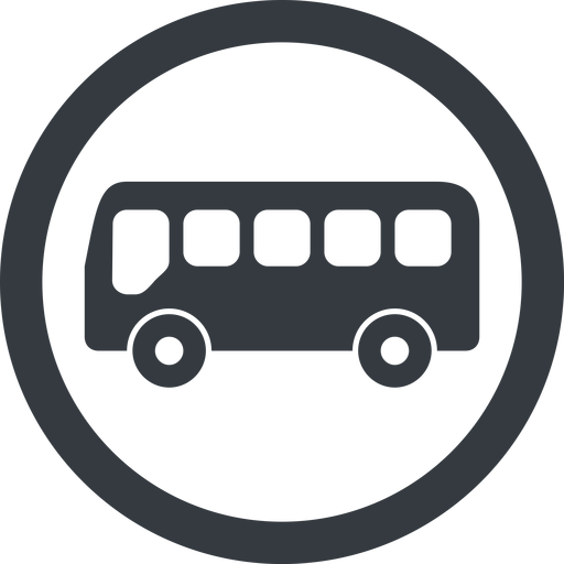 bus-side line, wide, circle, horizontal, mirror, car, vehicle, transport, bus, side, bus-side free icon 512x512 512x512px
