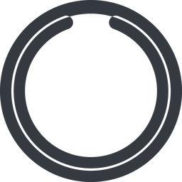 circle-notch-wide line, wide, circle, wait, load, loading, notch, waiting, circle-notch-wide free icon 256x256 256x256px
