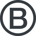 bootstrap-b line, circle, logo, brand, bootstrap, b, letter, bootstrap-b free icon 128x128 128x128px
