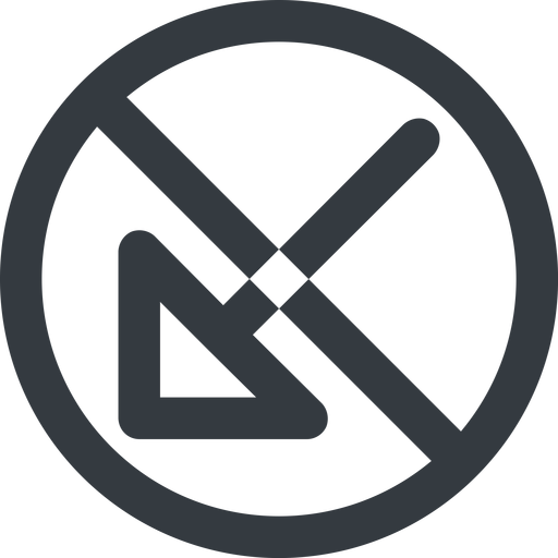 arrow-corner-wide line, down, wide, circle, arrow, prohibited, corner, arrow-corner-wide free icon 512x512 512x512px