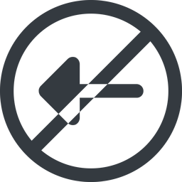 arrow-solid line, left, wide, circle, arrow, prohibited, arrow-solid free icon 256x256 256x256px