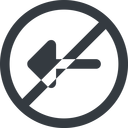 arrow-solid line, left, wide, circle, arrow, prohibited, arrow-solid free icon 128x128 128x128px