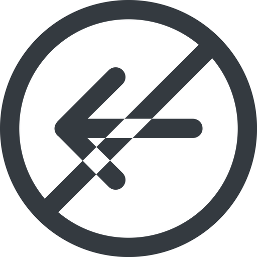 arrow-simple-wide line, left, circle, arrow, direction, prohibited, arrow-simple-wide free icon 512x512 512x512px