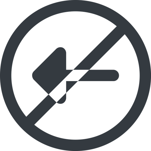 arrow-solid line, left, wide, circle, arrow, prohibited, arrow-solid free icon 512x512 512x512px