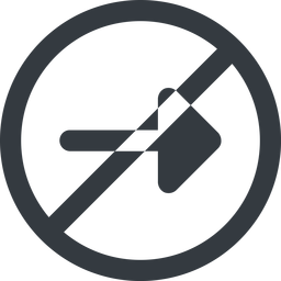 arrow-solid line, right, wide, circle, arrow, prohibited, arrow-solid free icon 256x256 256x256px
