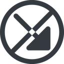 arrow-corner-solid line, right, wide, circle, arrow, prohibited, corner, arrow-corner-solid free icon 128x128 128x128px
