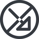 arrow-corner-wide line, right, wide, circle, arrow, prohibited, corner, arrow-corner-wide free icon 128x128 128x128px