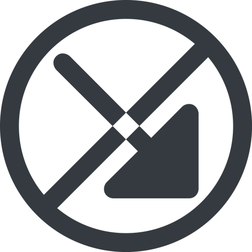 arrow-corner-solid line, right, wide, circle, arrow, prohibited, corner, arrow-corner-solid free icon 512x512 512x512px
