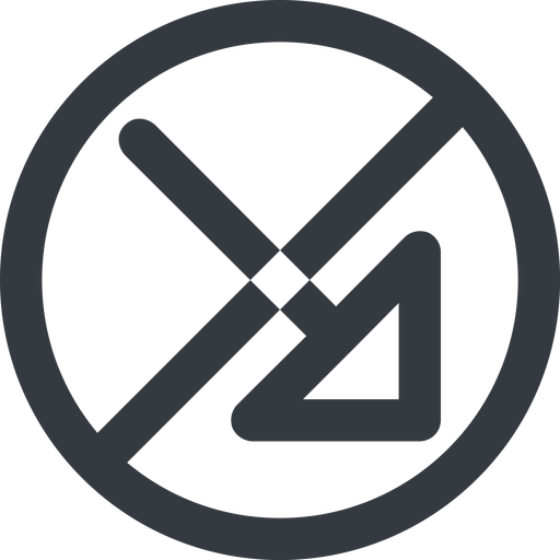 arrow-corner-wide line, right, wide, circle, arrow, prohibited, corner, arrow-corner-wide free icon 512x512 512x512px