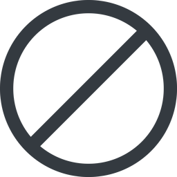 circle line, wide, circle, horizontal, mirror, prohibited free icon 256x256 256x256px