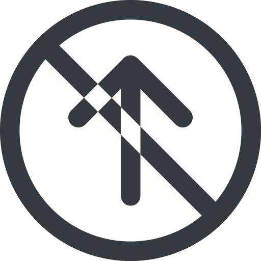 arrow-simple-wide line, up, circle, arrow, direction, prohibited, arrow-simple-wide free icon 512x512 512x512px