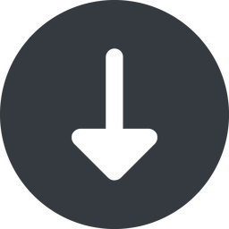 arrow-solid down, wide, solid, circle, arrow, arrow-solid free icon 256x256 256x256px