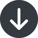 arrow-simple-wide down, solid, circle, arrow, direction, arrow-simple-wide free icon 128x128 128x128px